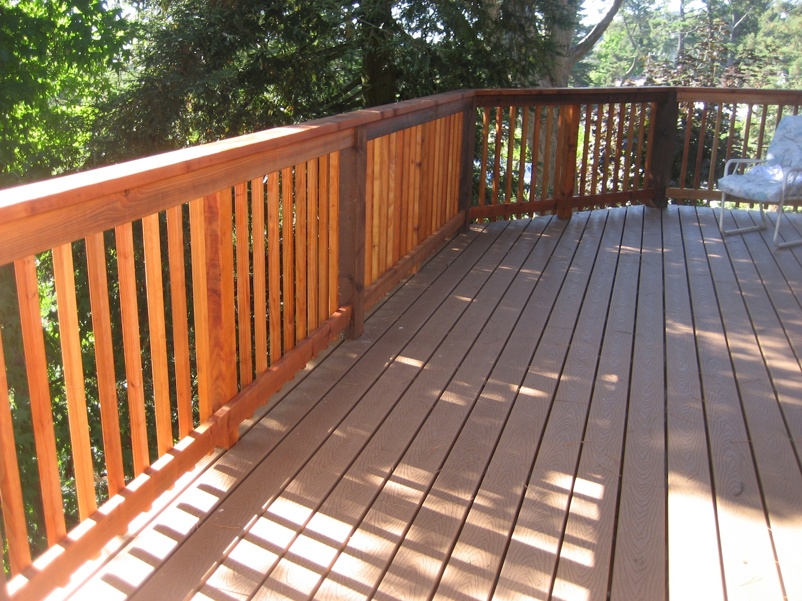 Trex decking cost round pool deck plans images composite for Composite deck railing